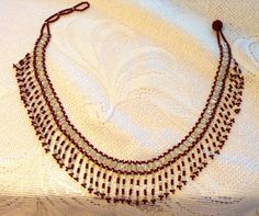 Victorian jewelry.Red and silver bead neclace by LadyofAlbionArt