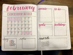 Really diggin my February monthly! : bulletjournal