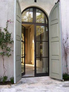W Bridge House Steel Doors Shutters Architecture Shutter Doors Arched Doors, The Doors, Windows And Doors, Entry Doors, Internal Doors, Steel Windows, Patio Doors, Arched Interior Doors, Arched Front Door