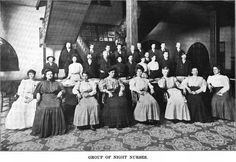 st joseph state hospital, for insane, mo, group photo, night nurses