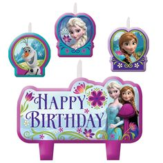 Disney Frozen Candle Set from BirthdayExpress.com
