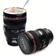 Do you know a photography enthusiast? You will love this custom designed travel mug that looks like a real DSLR Camera Lens. This DSLR Camera Lens Travel Mug is a perfect gift for the coffee lovers and tea drinkers alike. The mug even features a realistic grip and focus like you would find on a real DSLR Camera. Features: Holds 12 oz of your favorite hot or cold beverage. Great for the office, st... *** You can find more details by visiting the image link. #DigitalPhotography