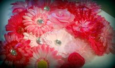 25  Mix Girly Pink Assorted Flower Heads2555 by flowerlayers, $13.99
