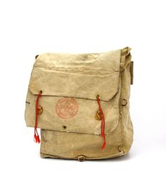 Vintage Boy SCOUTS Canvas Camping Bag Day by aniandrose
