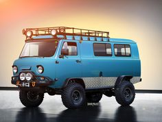 "yellow-park-bench: "" Vector Painting… I can't even… those wheels… UAZ by tuninger "" Auto Camping, 4x4 Van, 4x4 Trucks, Cool Trucks, Yellow Park, Mini Van, Combi T1, Hors Route, Automobile"