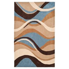 Safavieh MDA617 Modern Art Rug Blue / Brown - MDA617A-4