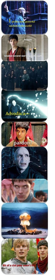 Funny - Merlin and Voldemort: we can see who the best sorcerer really is…