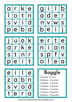 Boggle Printable Brain Teasers, Boggle Board, Pen And Paper Games, Grammar Games, 2nd Grade Writing, Word Work Activities, Boys And Girls Club, Compound Words, High School English