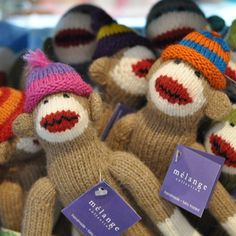 Our troop of sock monkeys are having a barrel of fun today - they don't feel at all cooped up with the rainy weather. Sold at The Children's Hour Bookstore in Salt Lake City.  898 South 900 East.  801.359.4150.  #thechildrenshour