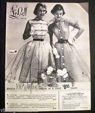 Vintage 1953 Girls in Summer Dresses Lana Lobell Hanover PA Fashion 50s Print Ad