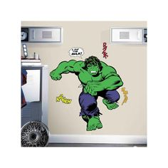 Marvel Hulk Comic Peel and Stick Giant Wall Decals by RoomMates, Multicolor