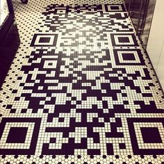 #QRcode tile... probably not one for the home, but would work well as a marketing feature?