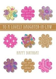 Picture of Relation Birthday Card - Daughter-in-Law