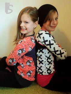 Freebook Little Pina & Pino Shirt/Pulli für Kinder Größen 74/80 - 134/40 und in zwei unterschiedlichen Längen nähen