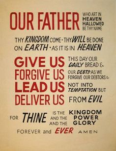 lord's prayer king james version printable | The Lords ...