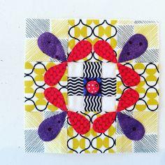 2001 Patchwork Sampler Blocks, Chuck Nohara, block 412. (Laila Nelson)