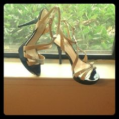 Guess Beautifully made Guess heels. Used once. There a few dents and marks but bearly noticeable. Guess  Shoes Heels
