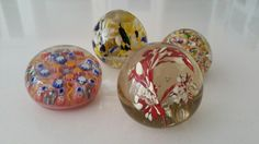 Paperweights $60 the lot Beautiful paperweights. Very colorful. Good condition.  #artglass #paperweights #love #nice #vintage #cool #set #group #p4foz