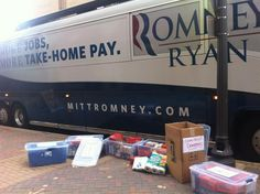 Romney Campaign Donates Bus To Help With Storm Relief Efforts On East Coast!