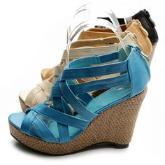 ollio Womens Shoes Wedge Sandals Multi Colored | eBay