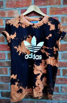 Adidas. Must do. bleach out plain black T.