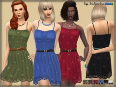 Sundress with Lace for women. Installed autonomously a new mesh, 6 coloring options. Found in TSR Category 'Sims 4 Female Everyday' Source: bukovka's Sundress & Sims 4 Dresses, Formal Dresses, Ms Blue, Dress Outfits, Girl Outfits, Sims 4 Clothing, Female Clothing, Clothing Sets, The Sims