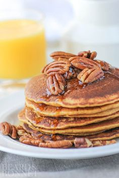 Gluten Free Pumpkin Pancakes for Better Homes and Gardens Delish Dish {Beard and Bonnet}