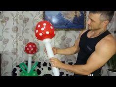 Как сделать грибочек из воздушных шаров / How to make a mushroom from balloons - YouTube