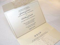 EMMA1 Lace Hochzeit Einladung Einladung von LavenderPaperie1