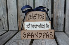 Fathers Day Dad Grandpa Grandma Nana Mom Father Papa Stacker wood blocks personalized gift fathers day home decor. on Etsy, $18.95
