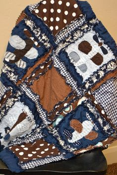 RAG QUILT Applique Airplane Baby Boy Blanket by avisiontoremember, $77.00   # Pin++ for Pinterest #