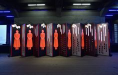 Pentagram has unveiled an installation in New York that distributes free copies of Margaret Atwood's The Handmaid's Tale in support of the novel's TV serialisation that began on US channel Hulu this week. Some 4,000 editions of Atwood's 1985 classic will be made available and housed in a unique accordion-fold display created by two Pentagram teams led by …