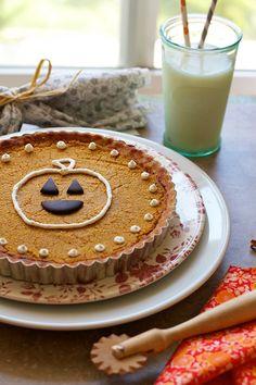 Pumpkin Pie Tarts with Almond Crust-Gluten Free on FamilyFreshCooking.com © MarlaMeridith.com