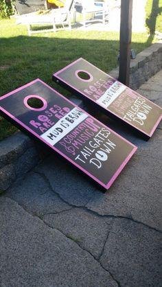 Not food, but my cornhole boards