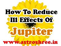 How To Reduce Ill Effects Of Jupiter ?