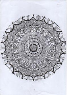 Hand drawn mandala. Designs by using Tangledweb Creations A4 mandala templates