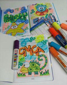 Notebook Art, Cute Art, Doodles, Letters, Education, My Love, School, Diy, Gabriel