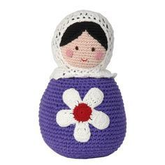 Crocheted Matryoshka Russian Dolls Crochet For Kids, Crochet Baby, Knit Crochet, Knitted Dolls, Crochet Dolls, Crocheted Toys, Crochet Humor, Matryoshka Doll, Crafts To Make And Sell
