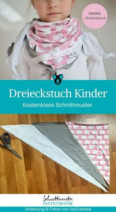 Triangular scarf children's scarf sew on children's accessories .- Children's Scarf Children's Scarf Sewing Accessories for Children Accessories Scarf Free S … – Handmade – Scarf # for - Sewing Patterns Free, Free Sewing, Sewing Tutorials, Dress Patterns, Sewing Tips, Sewing Projects, Baby Tie, Diy Accessoires, Diy Mode