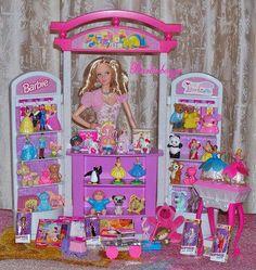 Barbie Spielzeugladen - Barbies of the world - Toys Barbie Store, Barbie Doll Set, Barbie Sets, Barbie Life, Barbie Dream, Barbie House, Vintage Barbie, Vintage Toys, Barbie Playsets