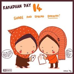 """day 14 """"share and spread dakwah"""""""