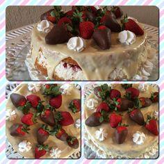 Naked cake merengue morangos
