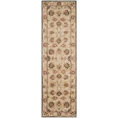 Safavieh Handmade Antiquity Beige/ Beige Wool Rug (2' 3 x 12')
