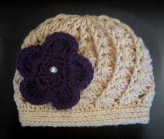 Crochet Hat Pattern Spiral Shell Rib Hat Beanie by PoshPatterns, $3.99