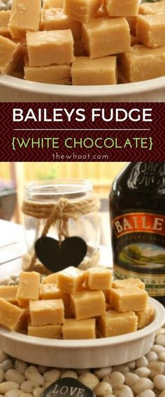 This Baileys Irish Cream White Chocolate Fudge Recipe couldn& be easier. This is the Wendys Kitchen Table version with video tutorial and 5 Ingredients. Baileys Fudge, Chocolate Baileys, Baileys Recipes, White Chocolate Fudge, Irish Recipes, Fudge Recipes, Homemade Chocolate, Dessert Recipes, Desserts