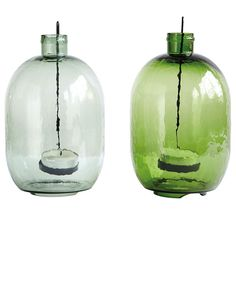 Light Green Bottle Tea Light Candle Holder Lantern by House Doctor House Doctor, Recycled Bottles, Recycled Glass, Colored Glass Bottles, Bottle House, Light Garland, Lantern Candle Holders, Bottle Lights, Light Therapy
