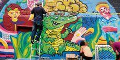 proceso del mural Capa de ozono para el area metropolitana 2015