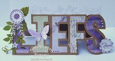 Cards made by Monique Stencil Diy, Stencils, 3d Cards, Altenew, Penny Black, Box, Paper Crafts, Scrapbook, Letters