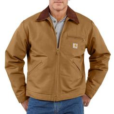 Carhartt Duck Detroit Jacket / Blanket Lined Carhartt Brown MD