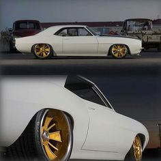 Custom gold rims | Classic cars